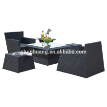 New design stackable rattan chair outdoor dining sets aluminum wicker chair