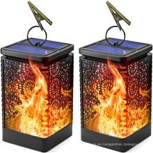 Dancing Flame Impermeable al aire libre Solar Garden Hanging Light