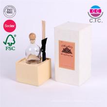 caja de papel de cartulina de rectángulo blanco personalizado para taza