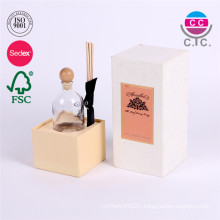 custom white rectangle cardboard paper box for cup