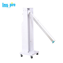 150W white color portable ozone uv sterilizer car uv disinfection trolley for hotel school uv lamp trolley
