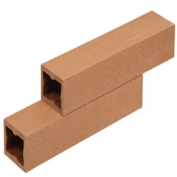 Colonne carrée en plastique en bois écologique qui respecte l'environnement