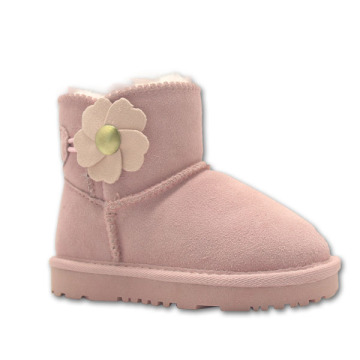 Little Girls Winter Ankle Boots Fleece Lining