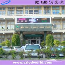 P10 Tablero de mensajes con pantalla LED externa de tres colores