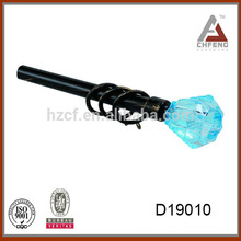 D19101 crystal glass finials for curtain rods,curtain rod finial,decoration curtain pole sets.