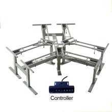 3 asientos o escritorio de la oficina de la teca del escritorio de oficina ajustable marco de escritorio ejecutivo para relajarse o trabajar