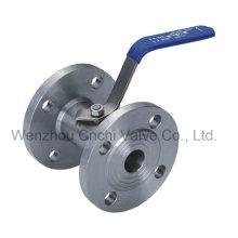 Válvula de esfera de flange de aço forjado 1PC