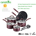 Masterclass Rose Gold 12pcs Nostick Pans and Pots