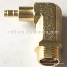 Ajuste de 90 grados de precisión de latón personalizado CNC