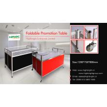 Faltbarer Promotion-Ausstellungsstand mit Rädern für Supermarkt