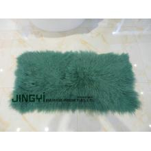Curly Lamb Fur Tibetansk Sheepskin Blankett