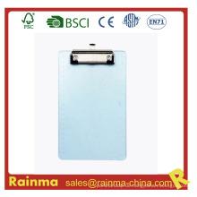 Klare Kunststoff PS Material Dicke Zwischenablage mit flachen Clip