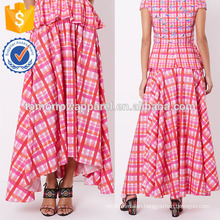 New Fashion Pink Print Maxi Summer Mini Daily Skirt DEM/DOM Manufacture Wholesale Fashion Women Apparel (TA5094S)