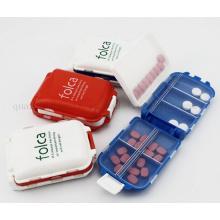 Boîte de rangement en plastique de médecine de bijoux de voyage de logo d'OEM mini