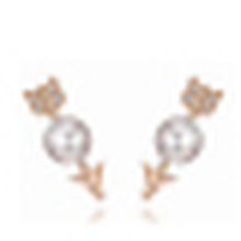 925 Sterling Silver Simple Natural Freshwater Pearl Stud Earrings