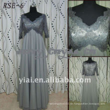 RSE-6 Direkte Hersteller 2011 neue Damen modische echte graue Chiffion Abendkleid