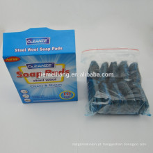 2015 novo item no mercado lã de aço inoxidável polimento almofada cozinha plástico fio depurador