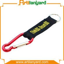 Silver Carabiner Hook with Short Strap