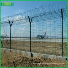 Malla de valla de aeropuerto / Malla de valla de columna de tipo melocotón / Valla de protección bilateral
