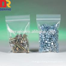 LDPE clear zipper bag zipper plastic packaging bag