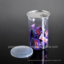Haustier-Plastiknahrungsmittelbehälter für Süßigkeit-Verpackung (PPC-CSRN-035)