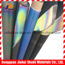 Rainbow Reflective PU Leather for Shoes