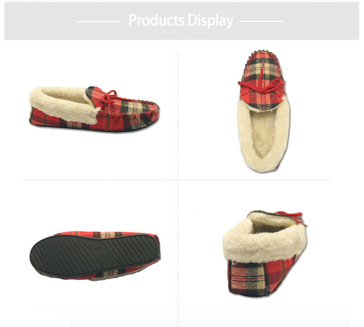 quality fleece moccasin shoes slippers
