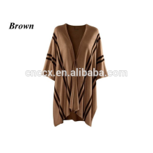 15JW0230 women jaquard 100% cashmere pullover poncho wrap