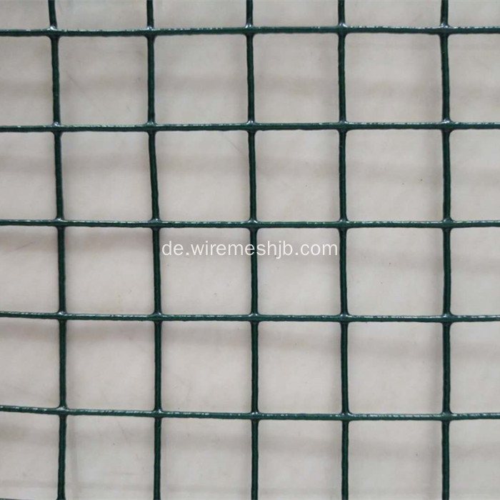 Dunkelgrüner PVC-beschichtete geschweißte Maschendraht-China-Hersteller