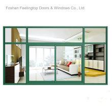 Высокое качество нескольких алюминиевое сползая окно (фут-модели w126)