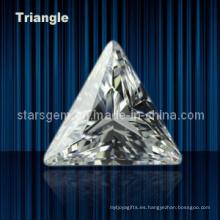 Brillante Corte Triángulo Forma Cúbico Zirconia Piedra preciosa
