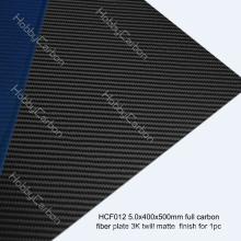 Mate profesional de la tela cruzada de la placa de carbono 3K para el abejón / FPV / helicóptero