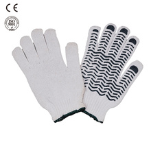 pvc dotted cotton knitted working glove