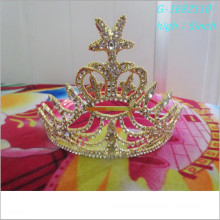 Wholesale Fashion custom pageant tiara gold king crown