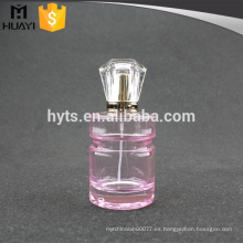 Botella de perfume redonda del color rosado 100ml