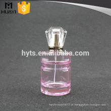 Frasco de perfume redondo da cor 100ml cor-de-rosa