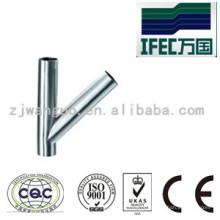 Tipo sanitário de aço inoxidável Y Tee (IFEC-ST100010)