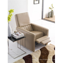 Echtes Leder Chaise Leder Sofa Elektrisch Verstellbares Sofa (776)