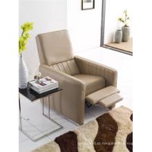 Sofá reclinável elétrico do sofá da chaise de couro genuíno (776)