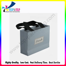 High Quality Black Grosgrain Ribbon Handle Bag