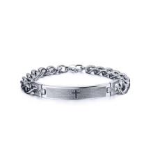 Pulseras cruzadas de la oración cristiana religiosa, joyería gruesa de la pulsera de cadena