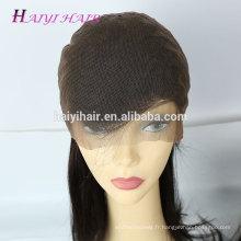 Cheveux humains brésiliens cuticule alignés cheveux sans colle perruque dentelle perruque
