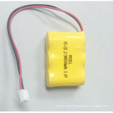 PKCELL Ni-CD 2/3AA 300mah 3.6V Rechargeable Battery Pack with Plug and Wire