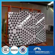 Производитель Китай закаленное шелкография декоративное стекло для дверей