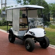 High Quality for Best 2+2 Seaters Golf Carts,2+2 Seaters Gas Golf Carts,2+2 Seaters Electric Golf Carts Manufacturer in China 4 seat electric fashion golf cart supply to France Metropolitan Manufacturers