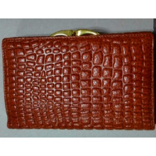 Guangzhou Supplier Fashion Crocodile Leather Lady Wallets Purse (W175)