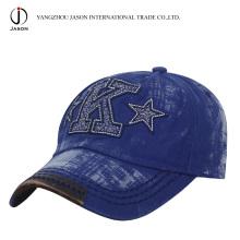 Tampão lavado Chapéu de basebol do algodão Cap dos esportes Tampão da forma do chapéu do golfe