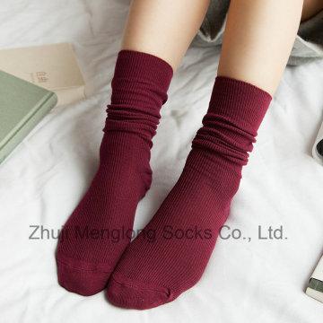 Moda menina meias longas meias de inverno quente