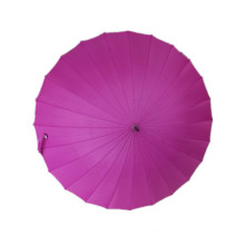 Auto Open 24k Fucsia Pongee Straight Umbrella (JYSU-14)