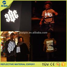 Servicio OEM !!! Etiqueta / logotipo de la camiseta con vinilo reflectante de transferencia de calor